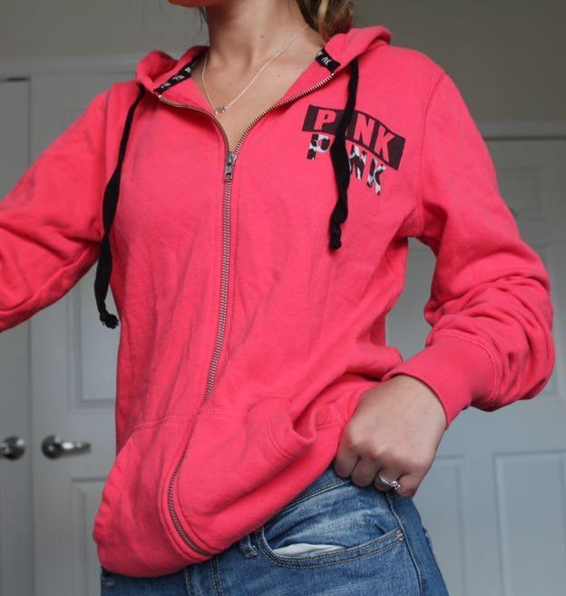 7fccf65e478b3 PINK Victoria's Secret Pink Full Zip Hoodie