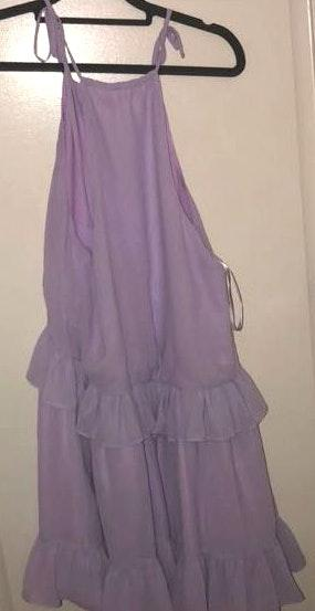 Lovers + Friends Purple Ruffle Dress