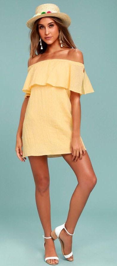 Lulus Sunshine Yellow Dress