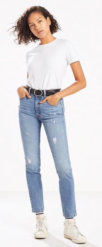 Levi's High Waisted Blue Jeans