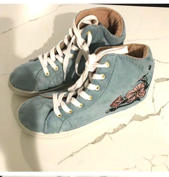 XOXO Jerald Blue Suede High Tops Size US 6.5 M