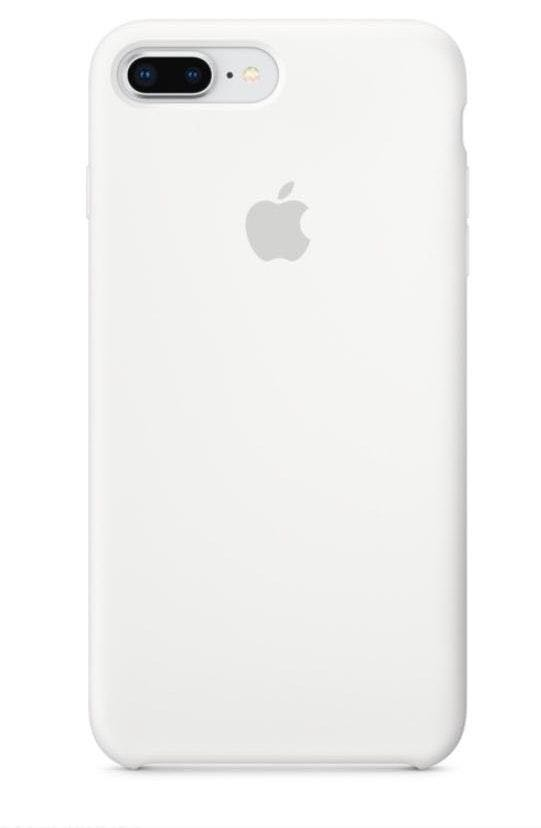 Apple White Silicone Iphone 7 plus case