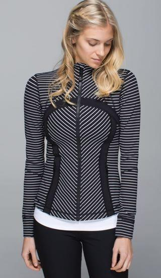 Lululemon Black And White Stripped  Jacket