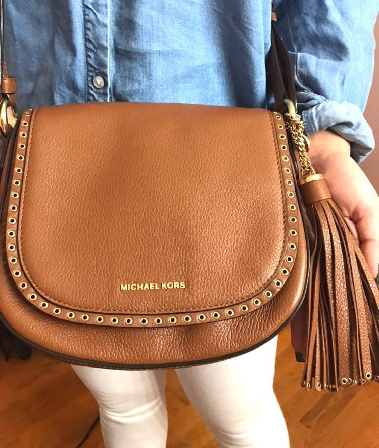 Michael Kors Brown Leather Crossbody