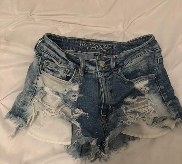 American Eagle Outfitters High Rise denim shorts
