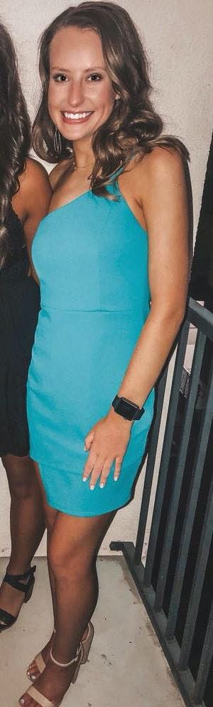 Blue Blush Teal Mini Dress