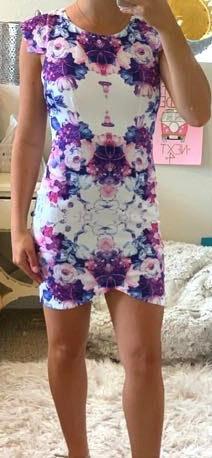 Xenia Flower Bodycon Dress