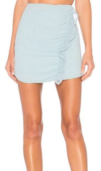 Lovers + Friends NWT Blue Lace Ruffle Skirt
