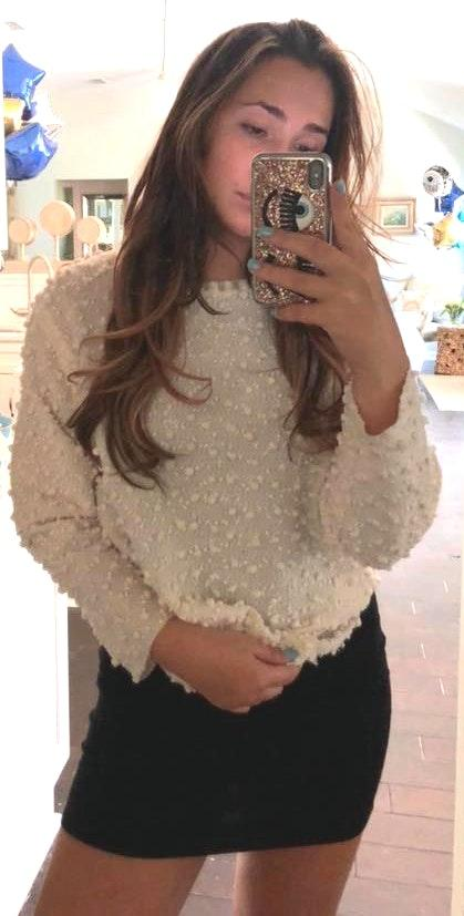 Erin Klein berg Cream Polka Dot Sweater