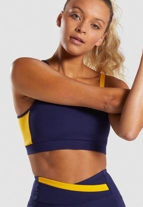 Gymshark Blue And Yellow Sportsbra