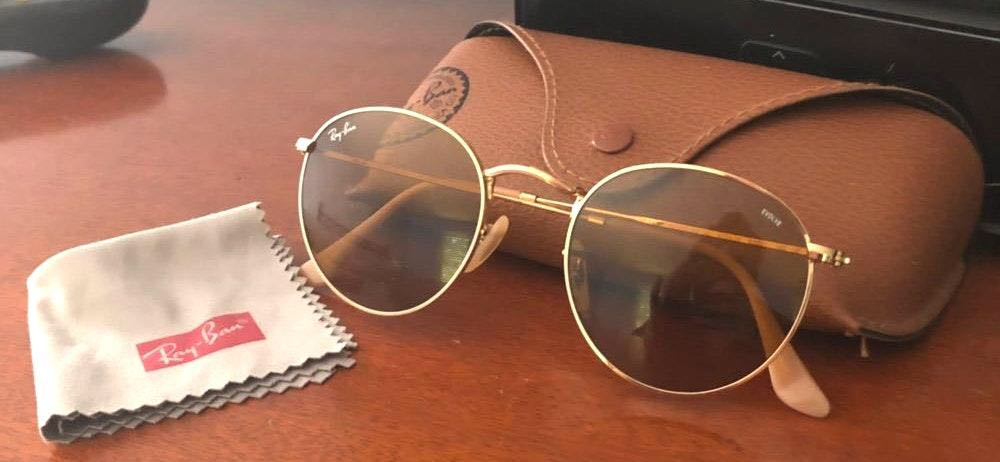 Ray-Ban Tan Circle Sunglasses