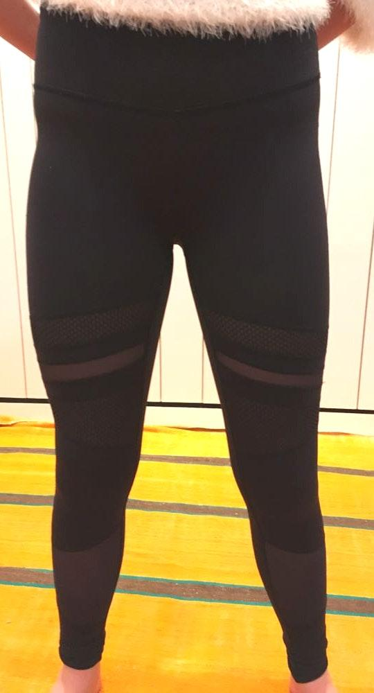 Lululemon Black Mesh Leggings