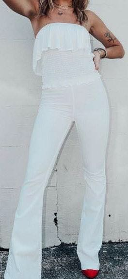 White Bell Bottoms