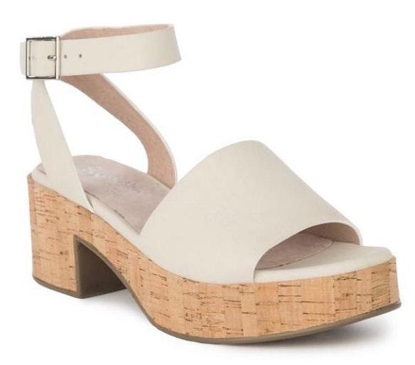 Seychelles Grey Ankle Wrap Chunky Heels