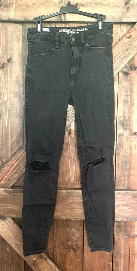 American Eagle Outfitters Black Knee Hole Skinny Jeans