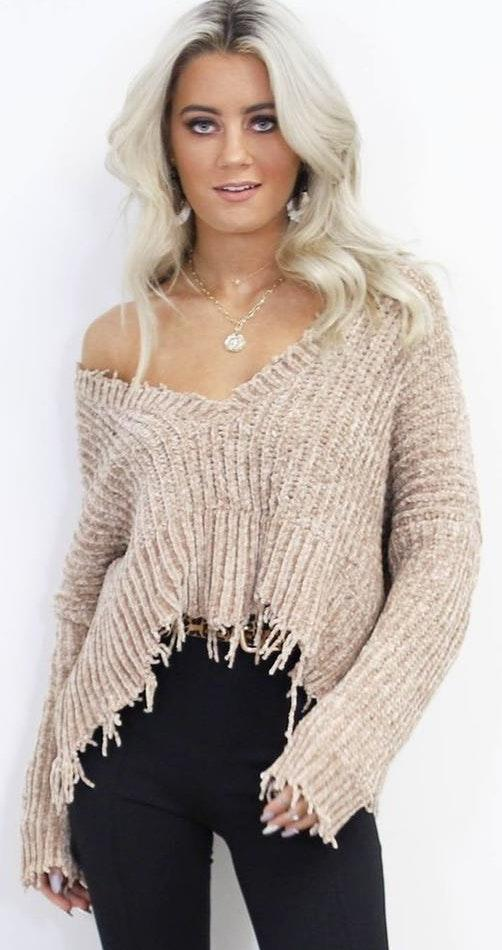 Amazing Lace brown sweater