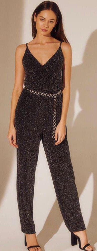 Kendall & Kylie Black/silver Jumpsuit