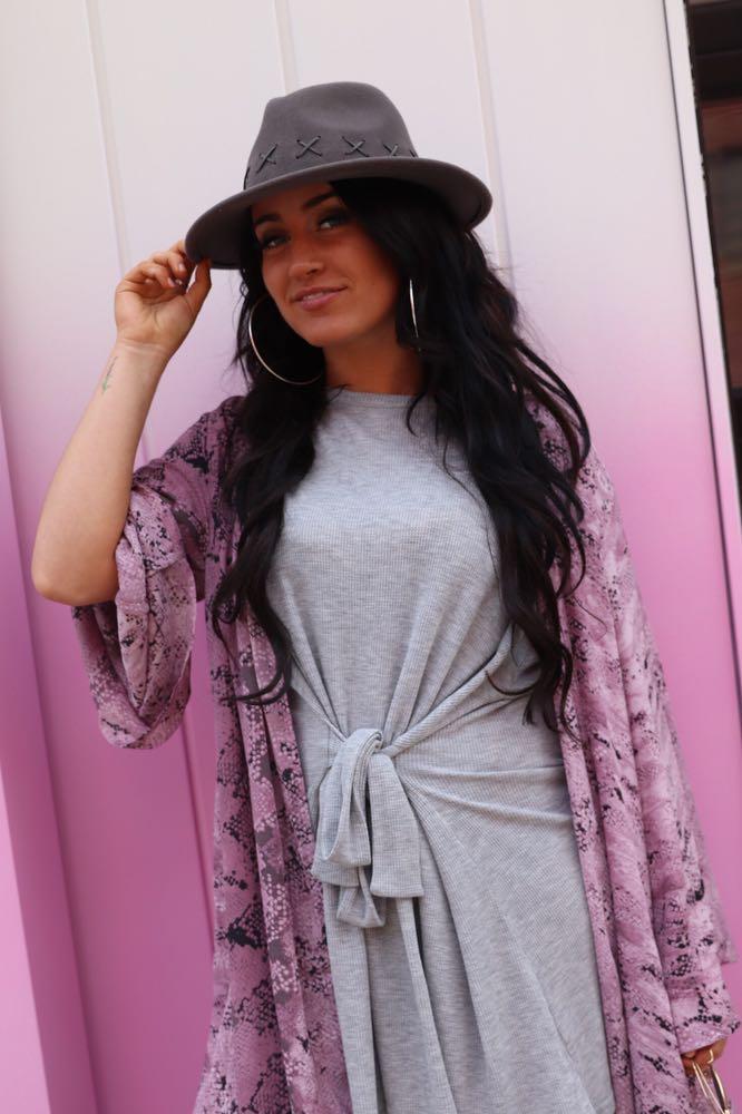 MINKPINK Grey Dress With Tie Front