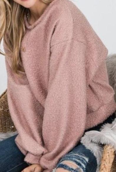 Mauve Fuzzy Pullover