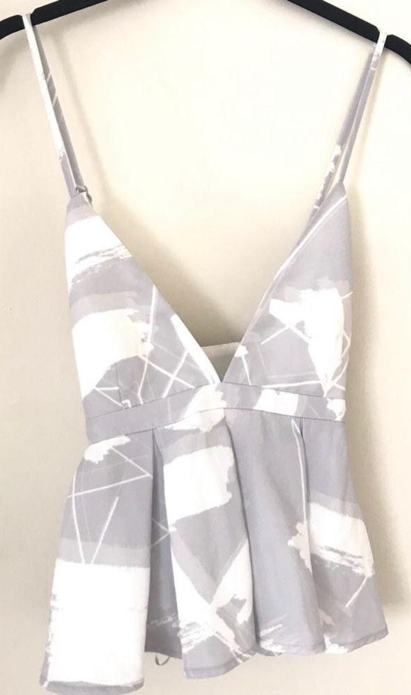 Keepsake Grey and white tank top
