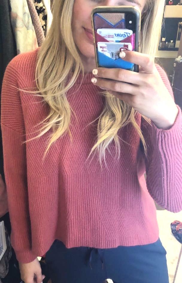 Madewell Coral made well sweater