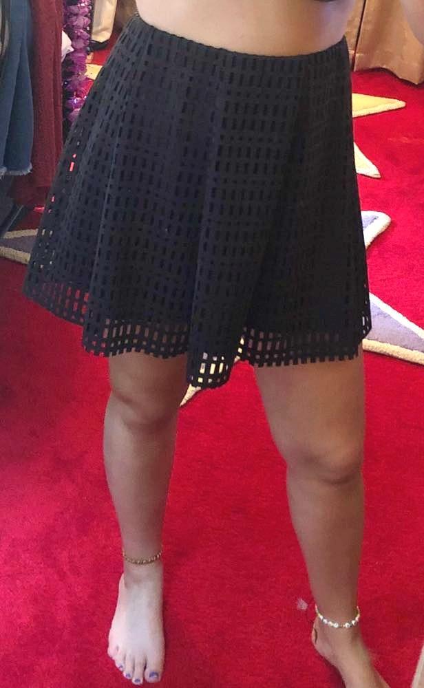 Jolt Black Skirt With Cutouts