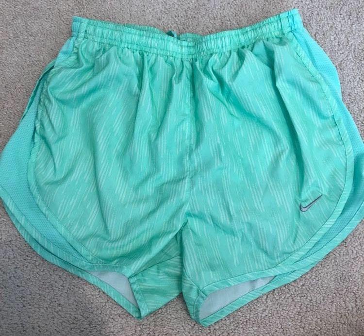 Nike mint green shorts