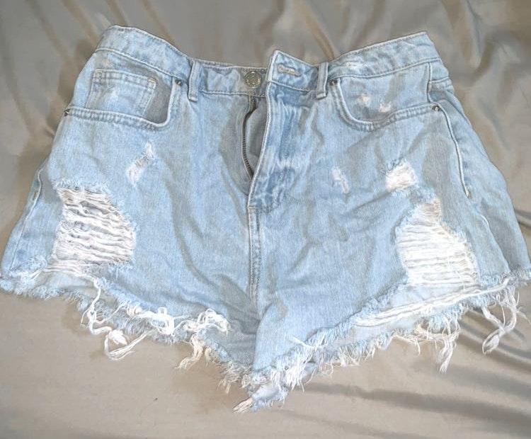 Forever 21 Light Blue Denim Shorts