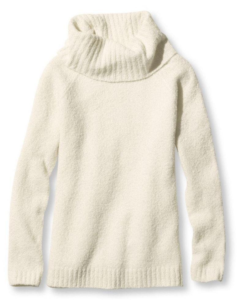 L.L.Bean Cozy Bouclé Sweater, Cowlneck