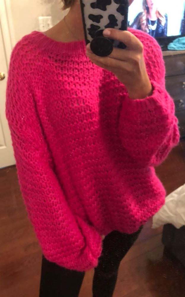 Nasty Gal Hot Pink Sweater