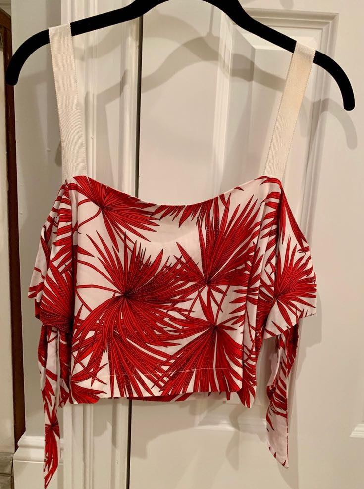 Bishop and Young Palm Print Off The Shoulder Top