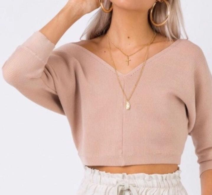 Princess Polly cropped sweater