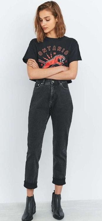 BDG Black Mom Jeans