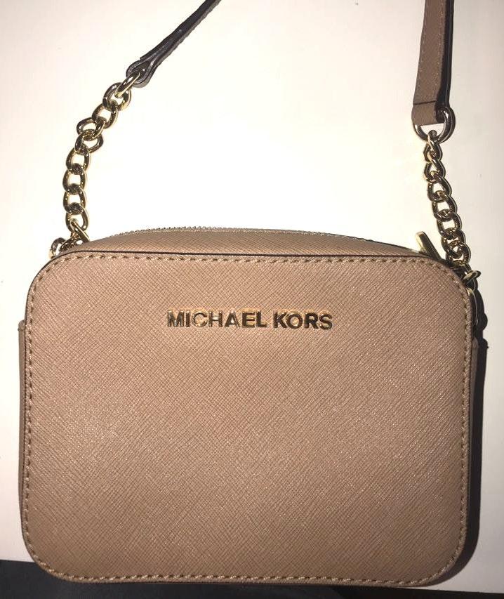 Michael Kors small tan crossbody purse