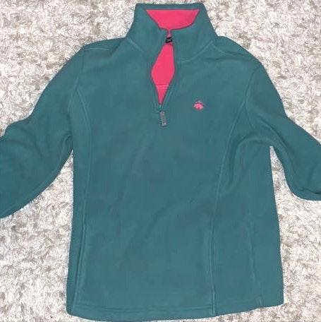 Brooks Brothers Pink And Green Fleece
