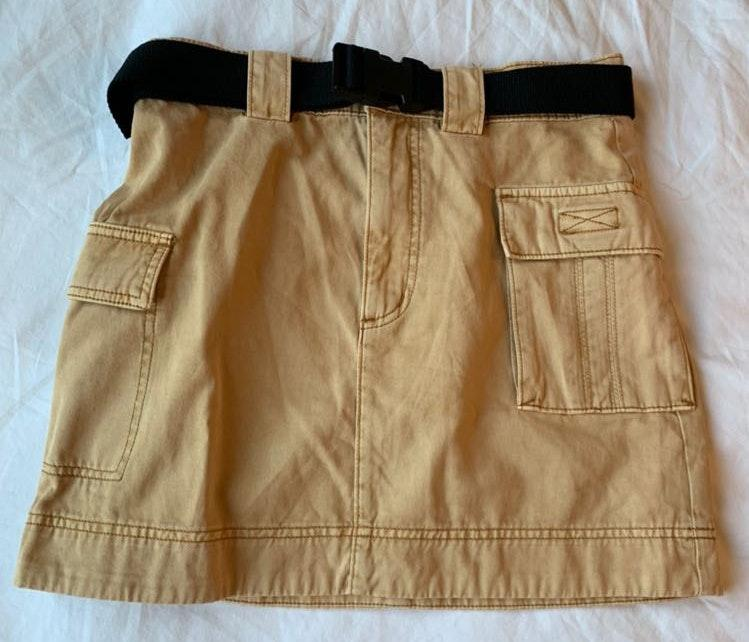 Urban Outfitters Tan Buckle Skirt