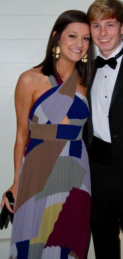 BCBG Geometric Formal Dress