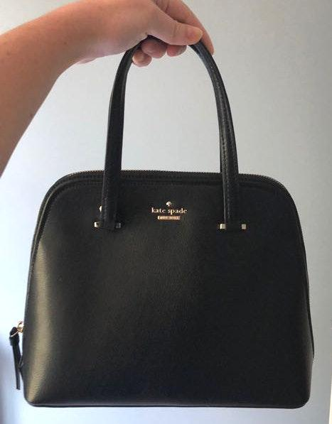 Kate Spade Black Pebble Leather Bag With Removable Crossbody Strap