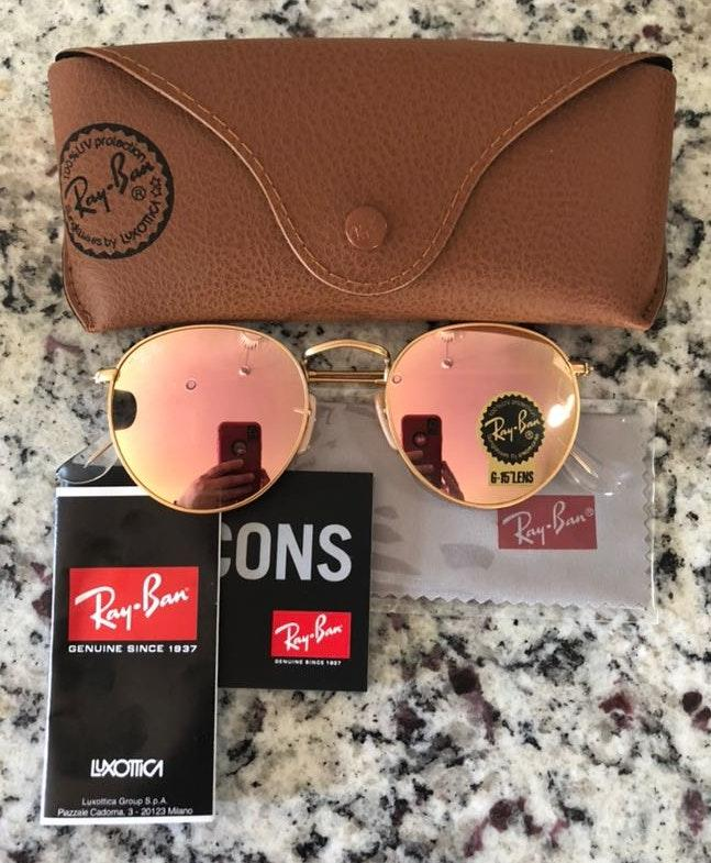 Ray-Ban New  Sunglasses Round Metal Pink 50mm