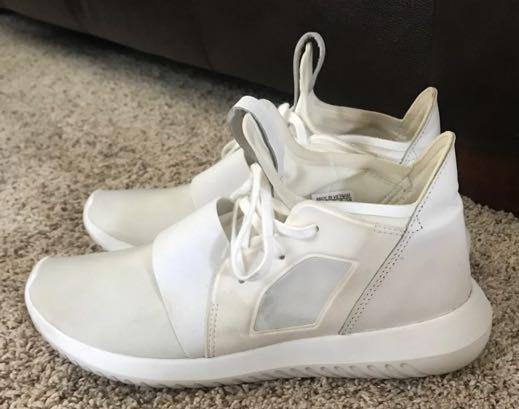 Adidas White  Tubular Shoes