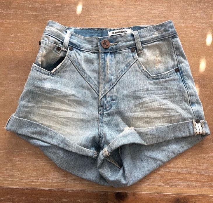 One Teaspoon Hawk Denim Shorts