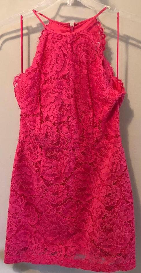 Trina Turk Pink Lace Dress