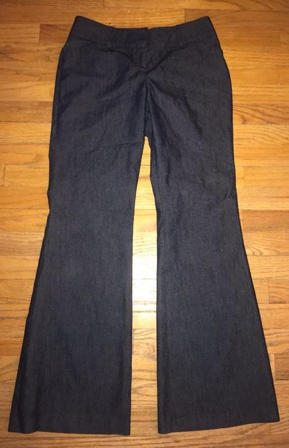 New York & Co. Size 6 dark blue denim looking dress pants