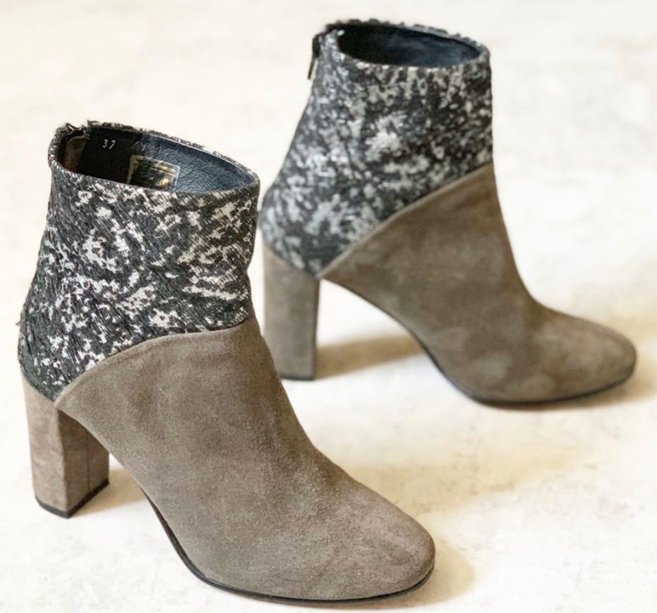 Anthropologie Cubanas Ciara Glitter Ankle Boots