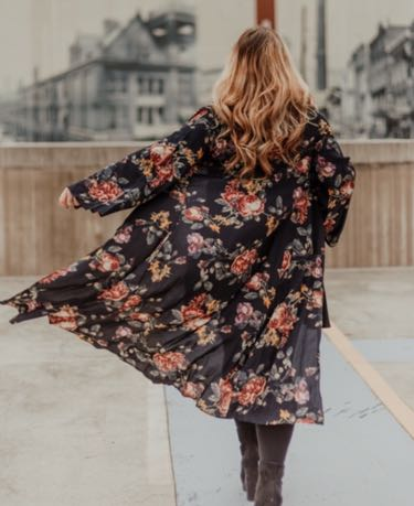 The Hazel Heart Boutique Boutique Floral Kimono Outerwear