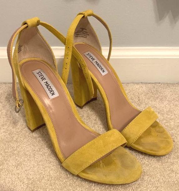 Yellow Steve Madden Heels