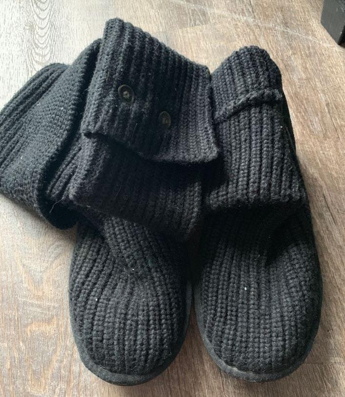 283f620d09d UGG Black Crochet Boots
