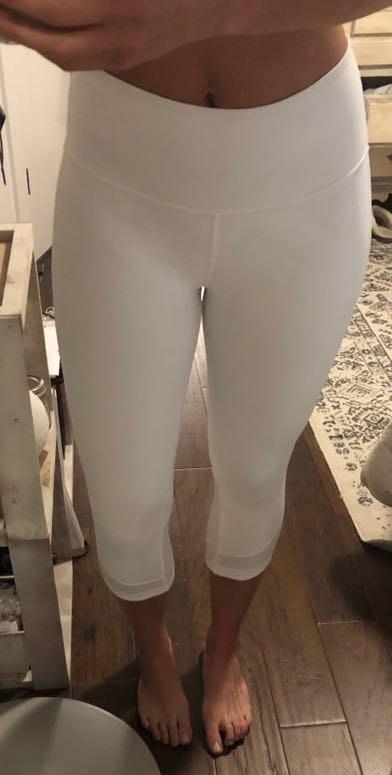 Lululemon Cropped White Leggings