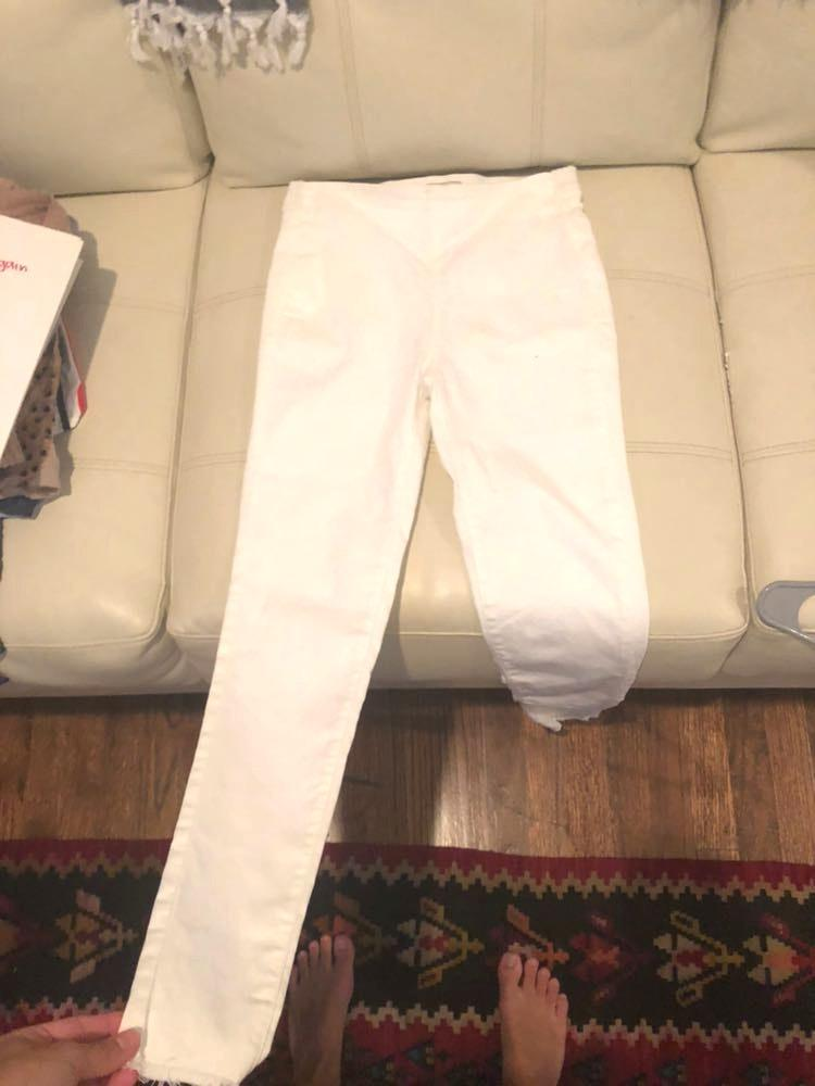 Free People white jeans!