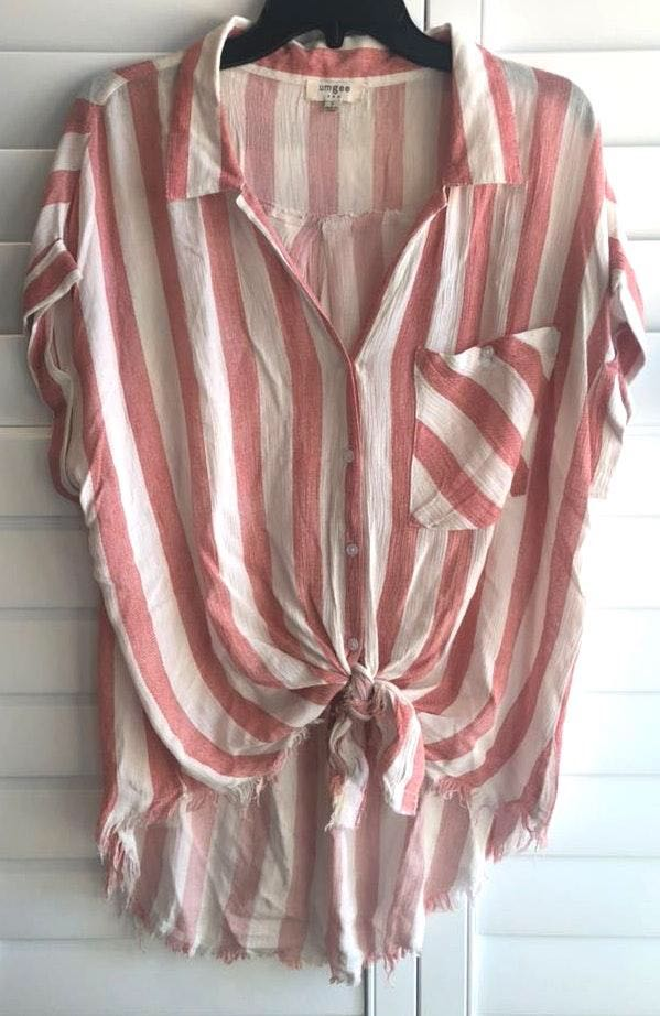 Umgee Candy Striped Shirt